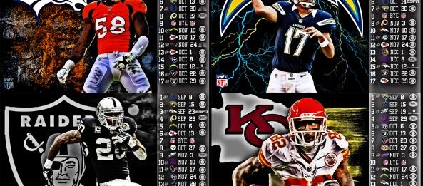 Raiders Schedule Wallpaper Afc West Schedule Wallpapers