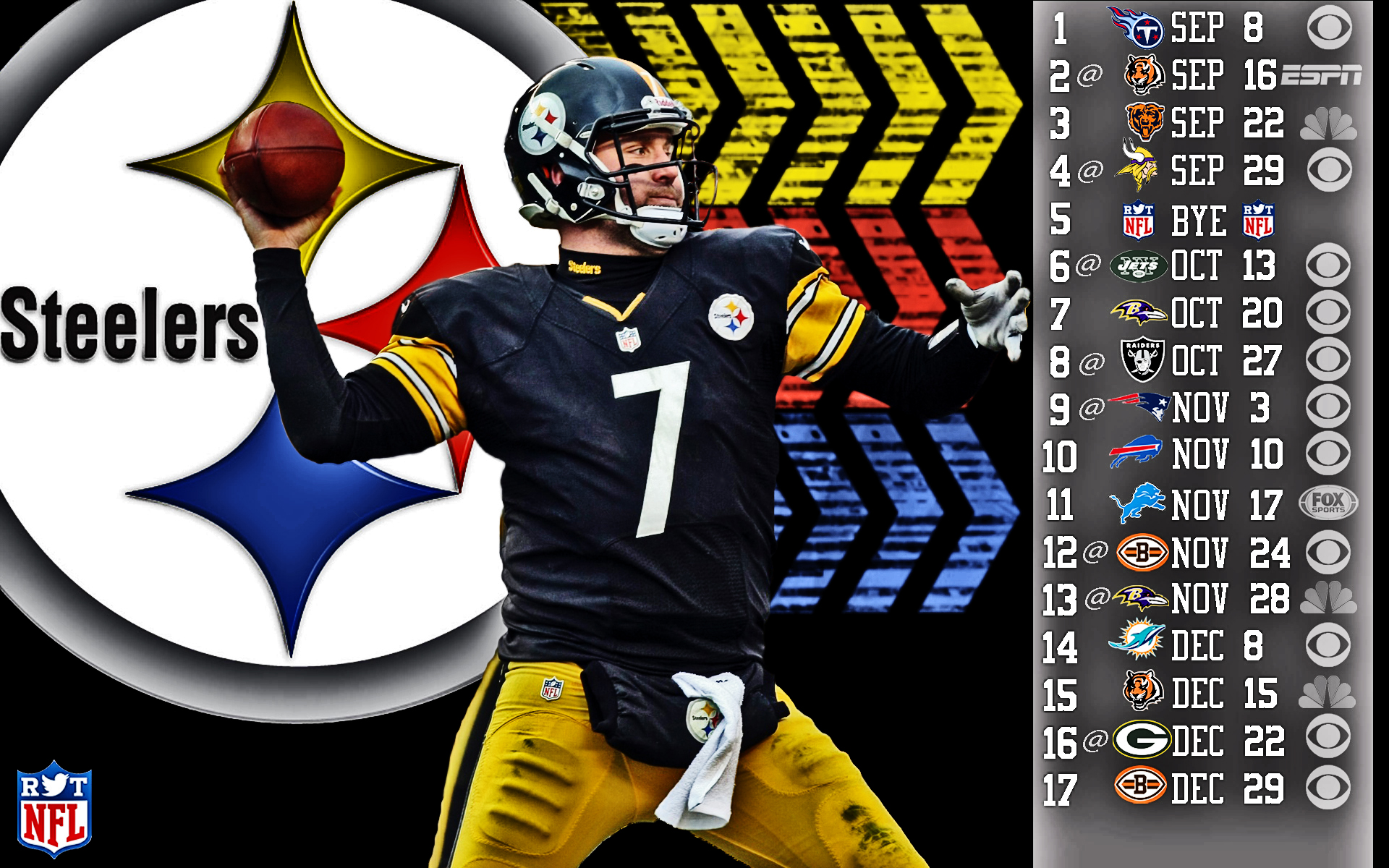 Pittsburgh Steelers 2014-2015 Schedule