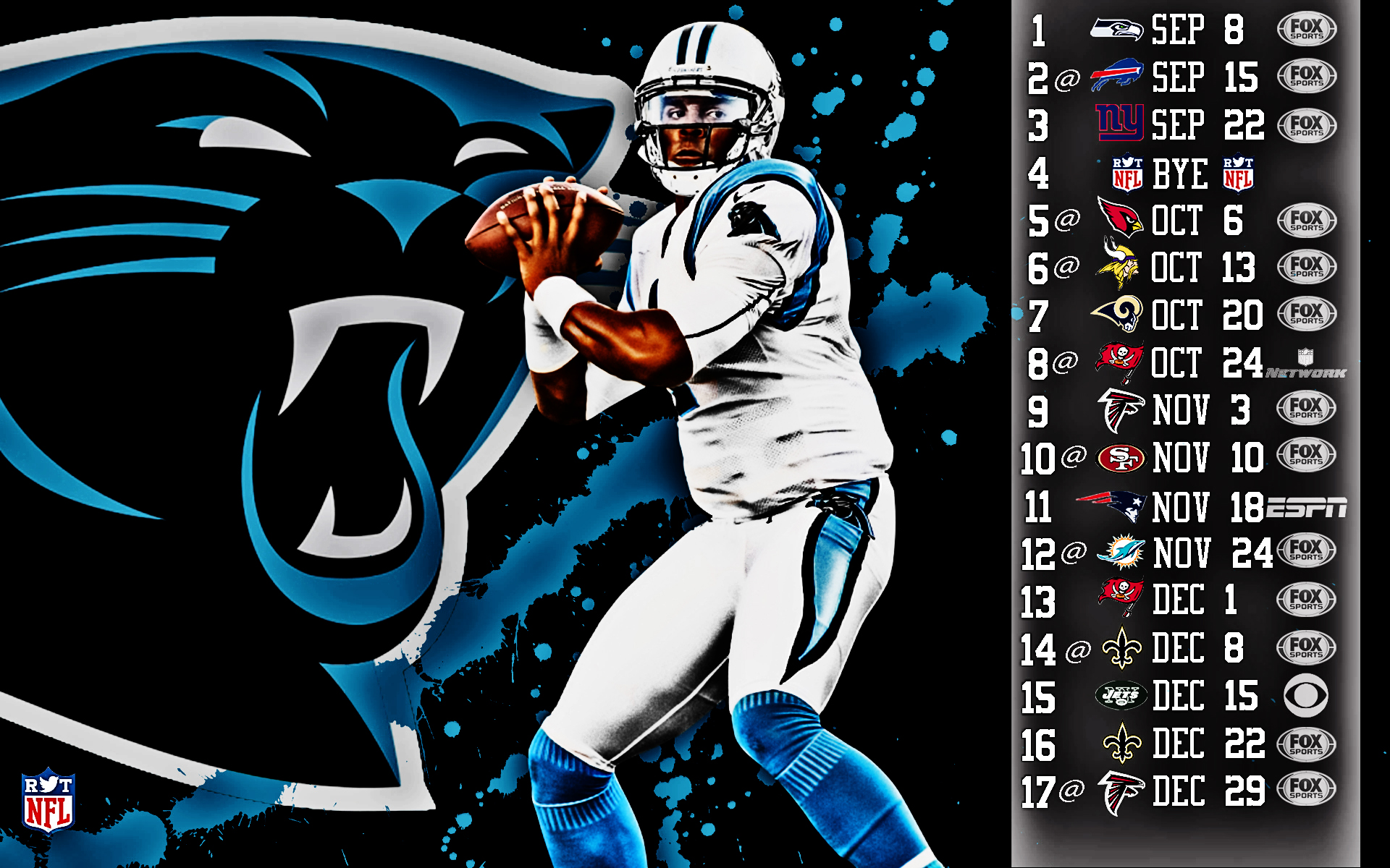 2013 nfl schedule wallpapers hdr sports - Carolina panthers wallpaper cam newton ...