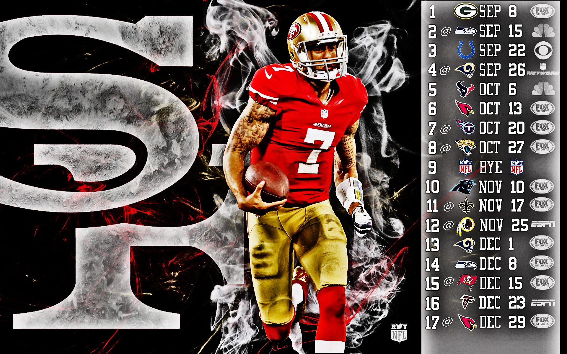 2013 nfl schedule wallpapers hdr sports - 2015 49ers schedule wallpaper ...